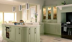 The subtle green colouring of Wickes Tiverton Sage conveys class and sophistication whilst bringing an air of calm to your kitchen.