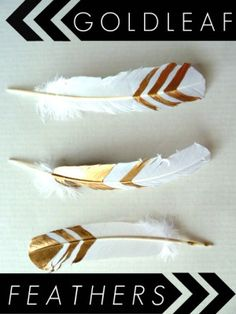 DIY Gold Leaf Feathers