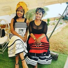 Image may contain: one or more people, people sitting, stripes, hat and outdoor South African Traditional Dresses, Traditional Outfits, Traditional Wedding, Xhosa Attire, African Attire, African Dresses For Women, African Print Dresses, African Men, Emo Dresses