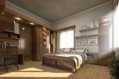 chambre de style rustique