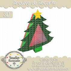Tree Cute Christmas Box VII, Caixa Fofa Árvore de Natal VII, Christmas Tree, Tampa, Cover, Caixinha, Garnish, Enfeites de Natal, Pingentes, Ornamentos de Navidad, Christmas, Natal, Navidad, Feliz Natal, Merry Christmas, Feliz Navidad, Presente, Gift, 3D, Projeto 3D, Caixa, Box, Boxes, Silhouette, Arquivo de Recorte, DXF, SVG, PNG