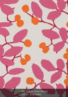 Ilsa fabric from Romo in Camellia