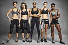 Hasse Nielsen for Nike's Pro Bra Collection campaign.