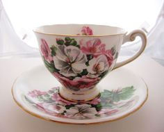 Bone China Teacup and Saucer Set Made in England