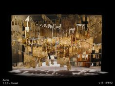 David Korins' set design for Annie on Broadway.