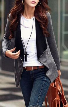 #fall #fashion / casual gray