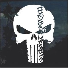 We the People Punisher Skull Decal Sticker – Custom Sticker Shop Punisher Skull Decal, Punisher Tattoo, The Punisher, Skull Stencil, Patriotic Tattoos, Sticker Shop, Silhouette Projects, We The People, Custom Stickers