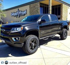 """#Repost @outlaw_offroad  A #sick #2016 #Chevy #colorado with a 5.5""""…"""