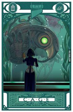 Bioshock Infinite: Fan art of Elizabeth and the Songbird - http://geekstumbles.com/funny/bioshock-infinite-fan-art-of-elizabeth-and-the-songbird/