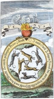 Engraving From Basil Valentine Chymische Schrifften Hamburg 1717