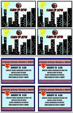 Super Freshmen Orientation Postcards