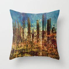 Transcity Throw Pillow by Jean-François Dupuis - $20.00