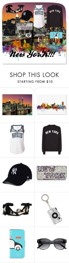 """New York"" by notrebeccanotney on Polyvore featuring Brewster Home Fashions, Trademark Fine Art, 5th & Ocean, Private Party, From St Xavier, Kenneth Cole, Kate Spade and Hollister Co."
