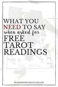 When you are a professional online tarot reader, you may still get lots of requests for free tarot readings. However, you can actually make that work out in your favor. Read more to see what you NEED to say when you are asked for free tarot readings.
