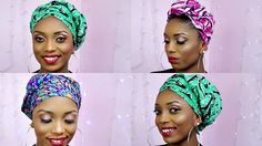 How To Tie African Ankara Head Wrap/Scarf Three Unique Styles