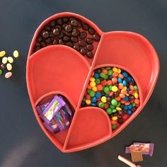 Reposting this image from a few months ago because candy day/Halloween is coming up ... And this heart shaped dish can hold candy, dips, fruit and veggies ... Even all at once, if necessary, to calm the sugar rush.