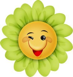 pk 229 funny flowers flower pot pple pinterest flower clip rh pinterest com Confused Smiley Face Clip Art Winking Smiley Face Clip Art