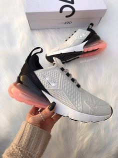 Swarovski Nike Air Max 270 Shoes Blinged Out With Swarovski .- Swarovski Nike Air Max 270 Shoes Blinged Out With Swarovski Crystals Bling Nike Shoes Neon - Bling Nike Shoes, Cute Nike Shoes, Cute Sneakers, Nike Air Shoes, Women's Shoes, Neon Shoes, Shoes Sneakers, Sneakers Style, Fall Shoes