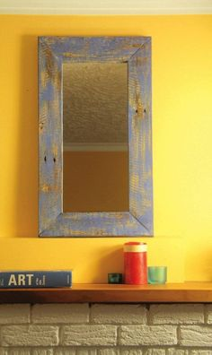 <strong>Weekend Project:</strong> This simple frame is accentuated by a bold, distressed finish to give it some added character. There are many different types of finish you can use to customize this frame, and make it look great in your home. Learn how this finish was applied, and see a few other options for different looks.