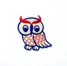 Owl Patch/Iron on Patch by CraftRoomStorage on Etsy