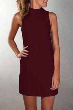 a0221081d907 Dress Robes, Tank Dress, Shift Dress Outfit, Dress P, Black High Neck