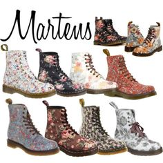 floral Doc Martens...you will be mine!, I esp. like the black ones with roses!