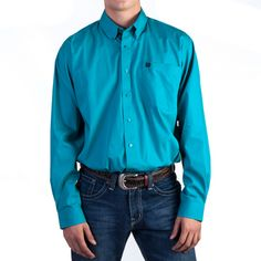 Mens Turquoise Button Down Shirt | Is Shirt