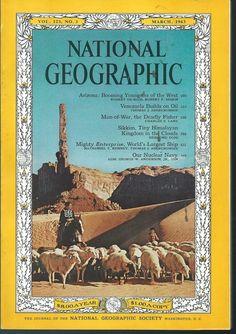 March 1963 National Geographic Magazine Arizona Venezuela  Nuclear Navy