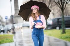 Pink in the rain: fourth look of PFW