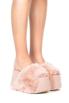 Jeffrey Campbell Shoes MONSTER in Pink Suede Combo