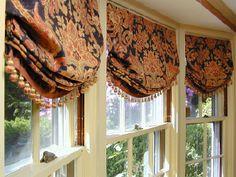 balloon shades for large windows   custom window treatments balloon shades