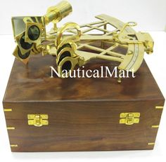 Confident Nautical Brass Sextant Maritime Working Wooden Box Victorian Travelling Sextant Suitable For Men And Women Of All Ages In All Seasons Antiques Other Maritime Antiques