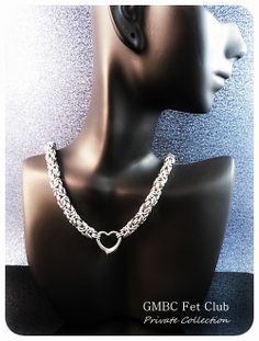 Stainless Steel Sweetheart Collar by GMBC Fet Club <3