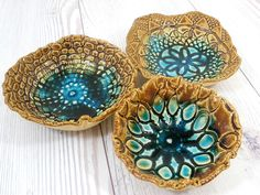 doily imprint bowls.. these are amazing