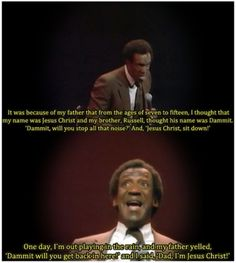 "Bill Cosby ""Himself"".  This is one of my favorite movies, and one of my favorite parts!"