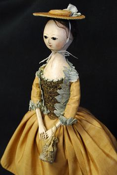 Reproduction English Wooden Queen Anne dolls hand carved 1700 by Kathy Patterson babes from the woods. Old Dolls, Antique Dolls, Vintage Dolls, Dollhouse Dolls, Miniature Dolls, Dollhouse Miniatures, Peg Wooden Doll, Ann Doll, Creepy Dolls