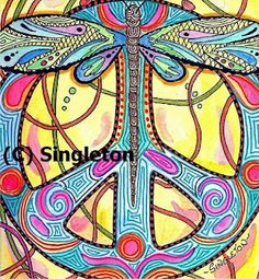 """Singleton Hippie Art  """"Accidental Peace"""" Find more of this artist and the poems that accompany his work at justgivemepeace.blogspot.com You will not be disapointed  http://4.bp.blogspot.com/_0rccoWUs8sc/SUkZjb6Hg1I/AAAAAAAAAPk/NV0xITra3Sw/s320/c+Accidental+Peace+Print+Singleton+hippie+art.JPG"""