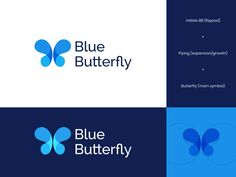 BlueButterfly Logo designed by Insigniada - Branding Agency. Connect with them on Dribbble; the global community for designers and creative professionals. Butterfly Logo, Blue Butterfly, Branding Agency, Logo Branding, Consulting Companies, 3 Logo, Crown Logo, Show And Tell, Illustration