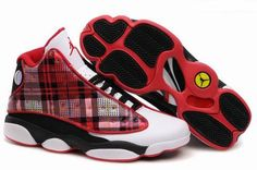 $52.63/pair Cheap Air Jordan 13 (XIII) Red/Black-White men shoes from www.wholesales2008.net