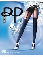 PP Fashion suspender tights, Sort