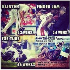"I always thought the ""professionals"" were wimps....yet they still say we aren't real athletes:"