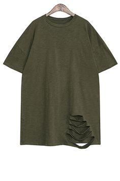 Broken Hole Short Sleeve T-Shirt