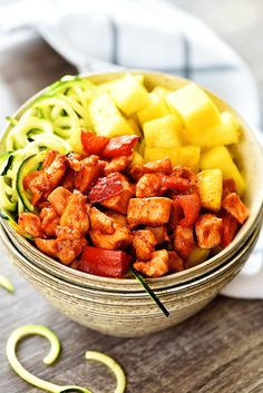Hey friends! I meant to post this recipe yesterday, but I haven't been feeling too well this week. Ugh. Today I'm feeling much better and am excited to share this deliciousness with you all! I have been making these HAWAIIAN CHICKEN MEAL PREP BOWLS for about a year. We went to Hawaii last June, so …