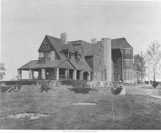 Oak Hall (Rear view of Oak Hall, residence of William Rockhill Nelson.) From the Missouri Valley Special Collections, Kansas City Public Library, Kansas City, Missouri