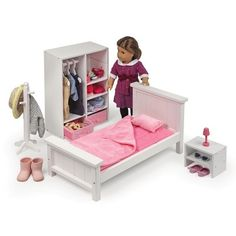 Doll Storage Armoire Fits American Girl Doll Clothes