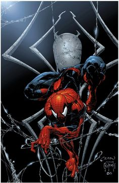 Old favorite - Pencil by Clayton Crain & Ink by Jonathan Glapion & Color by Dan Kemp Amazing Spiderman, Spiderman Web, Marvel Comics Art, Marvel Comic Universe, Marvel Heroes, Comics Universe, Comic Books Art, Comic Art, Spectacular Spider Man