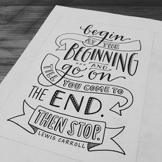 Print // Begin at the Beginning 5x7 by EmDashPaperCo on Etsy