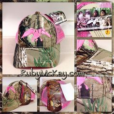 Duck Dynasty - Authentic Apparel Duck Commander Ladies / girls Realtree AP camo with pink embroidered flying duck & pink back.  On eBay now starting at $9.99  http://www.ebay.com/sch/flossy-girl/m.html?_nkw=&_armrs=1&_from=&_ipg=&_trksid=p3686   Country Girl Fashion & Style Duck Hunter / Deer Hunting Camouflage / Pink Camo