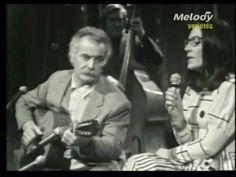 Georges Brassens &  Nana Mouskouri - Duo - Le Petit Cheval Blanc 1972.