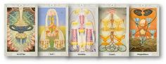Ace of Cups, Two of Cups, Three of Cups, Four of Cups, Five of Cups